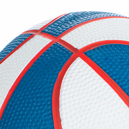 K100 Mini B Size 1 Basketball - Kids Up to age 4. White and Blue