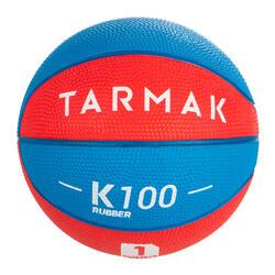 兒童款1號迷你籃球B。 適合4歲以下兒童使用。藍紅配色
