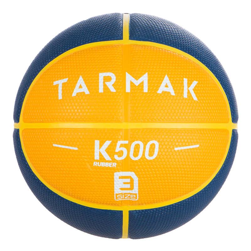 МЯЧИ И ЩИТЫ ДЛЯ БАСКЕТБОЛА ДЛЯ ДЕТЕЙ Баскетбол - Мяч желто-синий K500 Rubber T3 TARMAK - Баскетбол