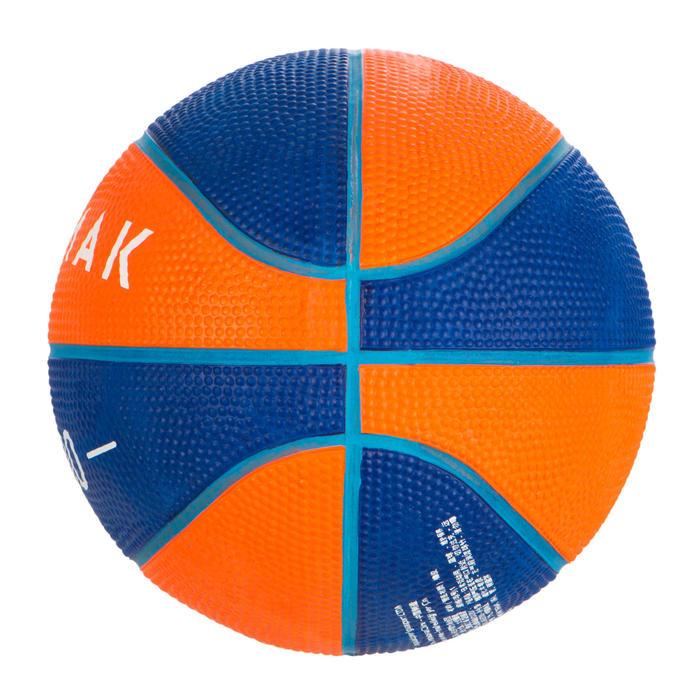 Minibasketbal Mini B maat 1 voor kinderen. Tot 4 jaar. blauw/oranje
