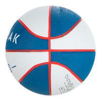 Minibalón de básquetbol junior Mini B talla 1, hasta 4 años. Blanco y Azul