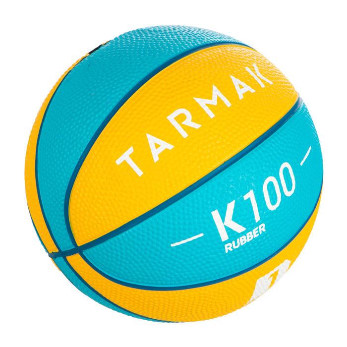 Mini B Kids' Size 1 Basketball. Up to age 4.Blue Yellow