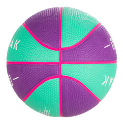 Size 1 Mini Basketball for Kids Up To 4 Years Old Mini B. Purple Turquoise