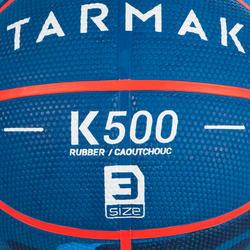 Ballon de basket enfant K500 T3 bleu camo. Pour le baby-basket jusqu'à 6 ans