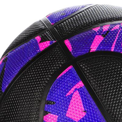 כדורסל R300 לרמת מתחילים לילדים עד גיל 10 מידה 5 - שחור/ורוד