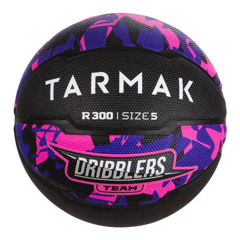 BASKETBALOVÉ MÍČE Basketbal - MÍČ R300 VEL. 5 ČERNO-RŮŽOVÝ TARMAK - Basketbalové míče
