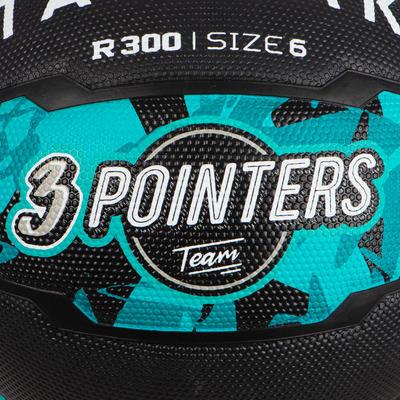Girls'/Boys'/Women's Size 6 Beginner Basketball R300 - Turquoise