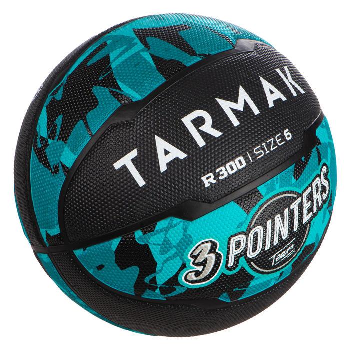 Ballon de basket R300 taille 6 Turquoise pour fille garçon et femme pour débuter