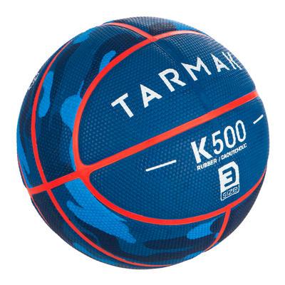 Ballon de basket enfant K500 T3 blue camo. Pour le baby-basket jusqu'à 6 ans