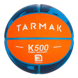 Kids' Size 3 Basketball K500 - Orange. For children up to 6 years