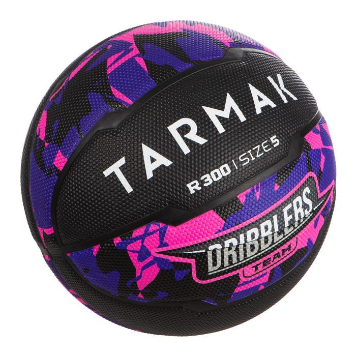 Basketbal voor beginnende kinderen tot 10 jaar R300 maat 5 zwart/roze.