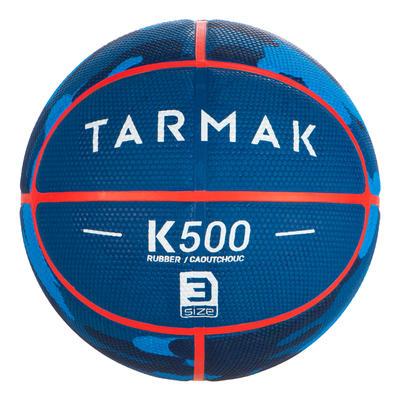 Balón de baloncesto Talla 3 Tarmak K500 azul camuflaje. Para el Baby Basket