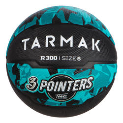 Basketbal voor beginnende jongens/meisjes/dames R300 maat 6 turkoois