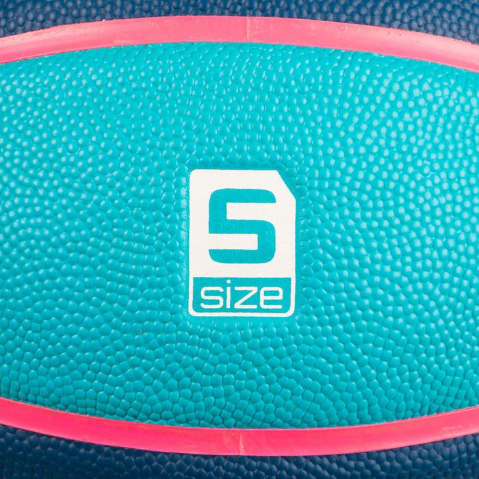 Ballon de basket enfant Wizzy basketball bleu et blue marine taille 5.