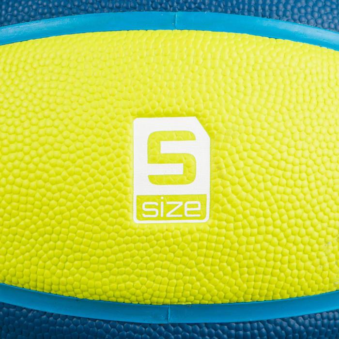 Kids' Size 5 Basketball Wizzy - Blue/Green.