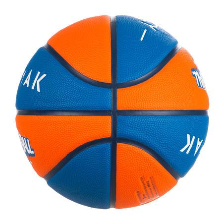 Дитячий баскетбольний м'яч Wizzy, розмір 5 - Синій/Помаранчевий
