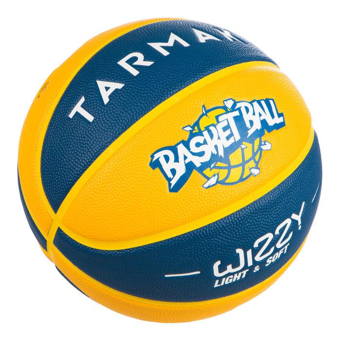兒童款5號籃球Wizzy-黃藍配色