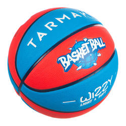 Kids' Size 5 Basketball Wizzy - Blue/Red.