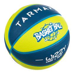 Ballon de basket enfant Wizzy basketball bleu vert taille 5.