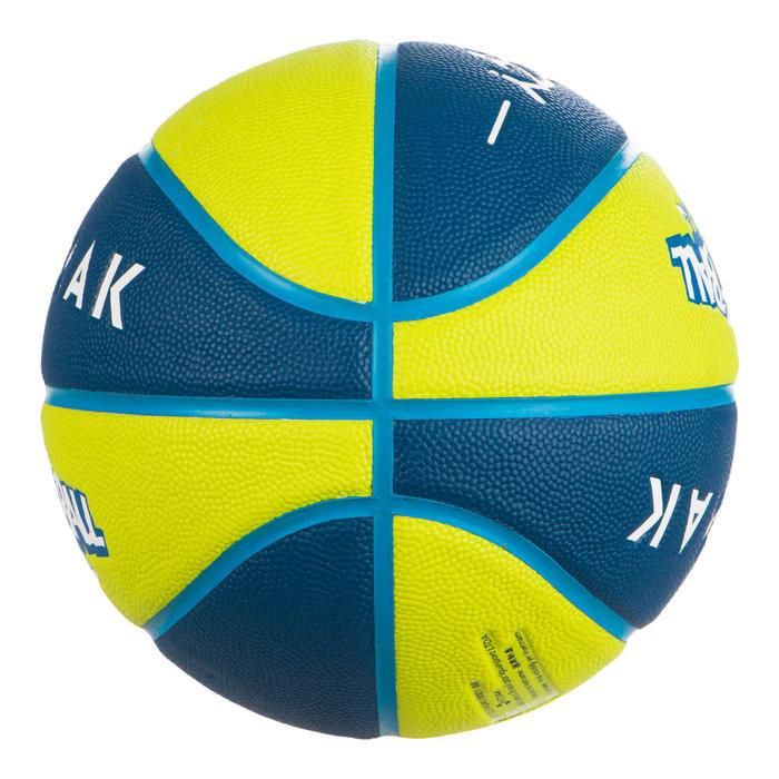 Basketbal voor kinderen Wizzy blauw/groen maat 5
