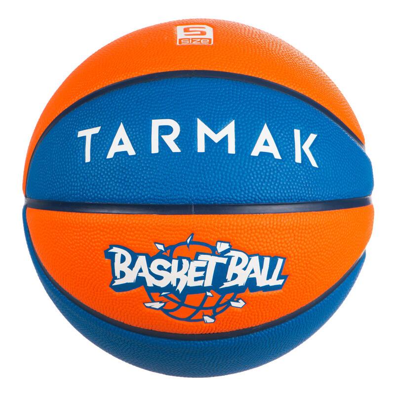 Ballon de basket enfant Wizzy basketball bleu orange taille 5 jusqu'a 10 ans.