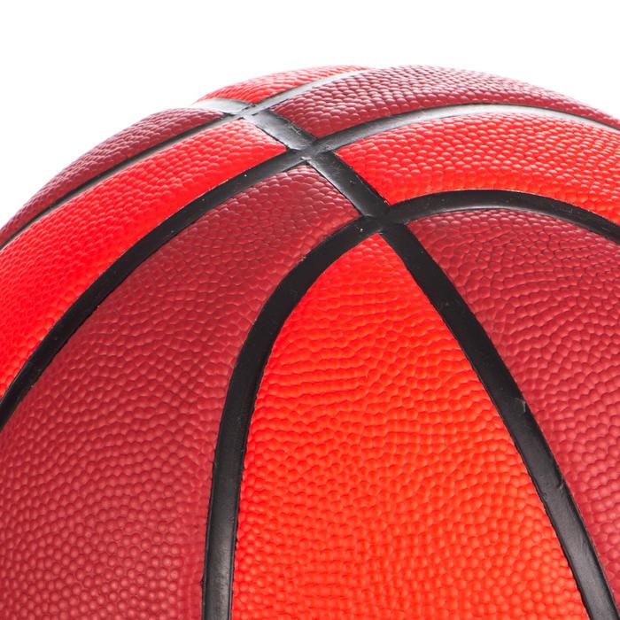 兒童款5號籃球Wizzy-紅色與酒紅配色
