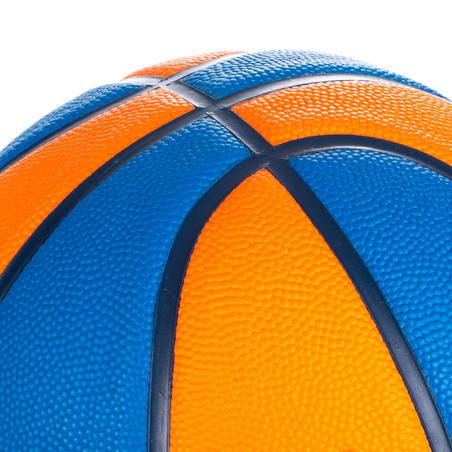 Balón de básquetbol júnior Wizzy azul naranja talla 5.