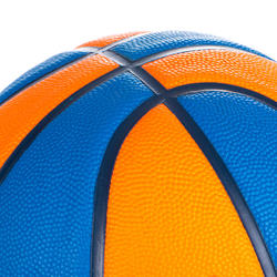 Ballon de basket enfant Wizzy basketball bleu orange taille 5.