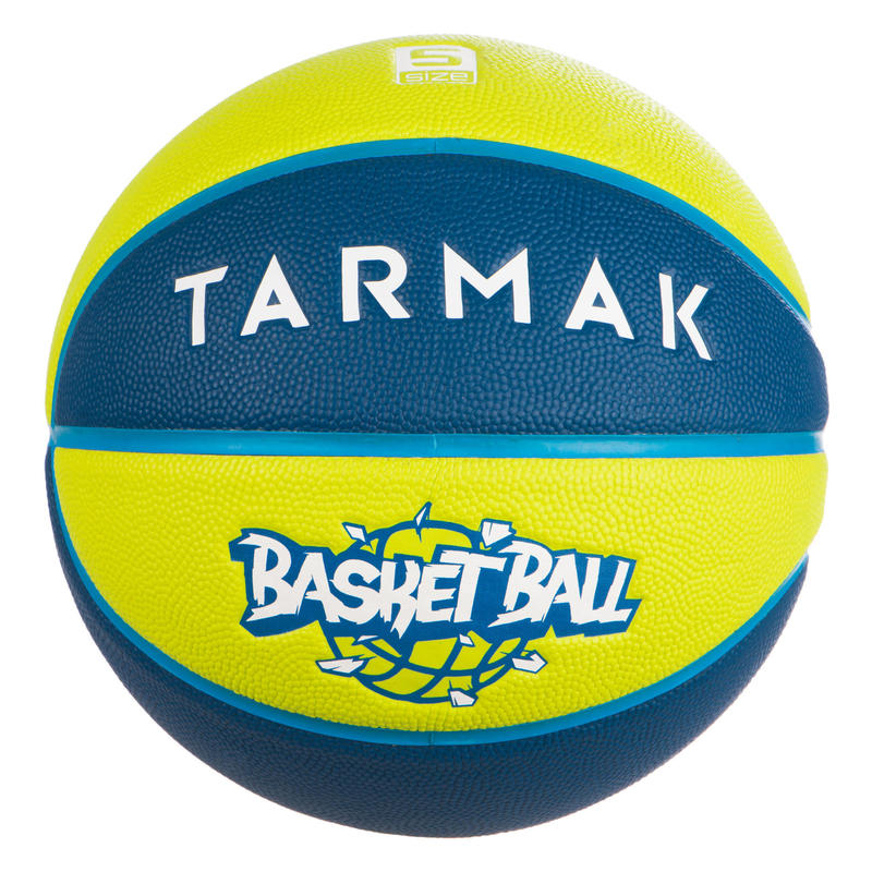 Ballon de basket enfant Wizzy basketball bleu vert taille 5 jusqu'a 10 ans.