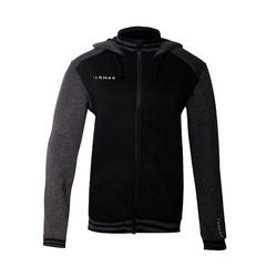 Men's Zippered Hooded Basketball Jacket J500 - Black/Grey