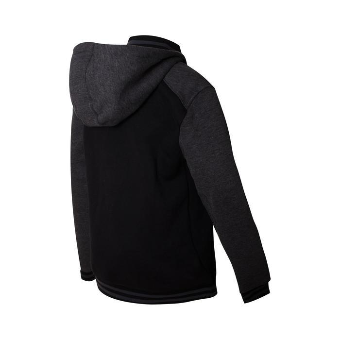 Men's Zippered Hooded Basketball Jacket J500 - Black/Grey