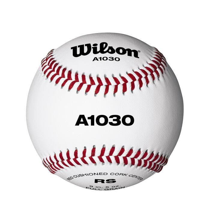 Baseball A1030 Leder 9 Zoll weiß
