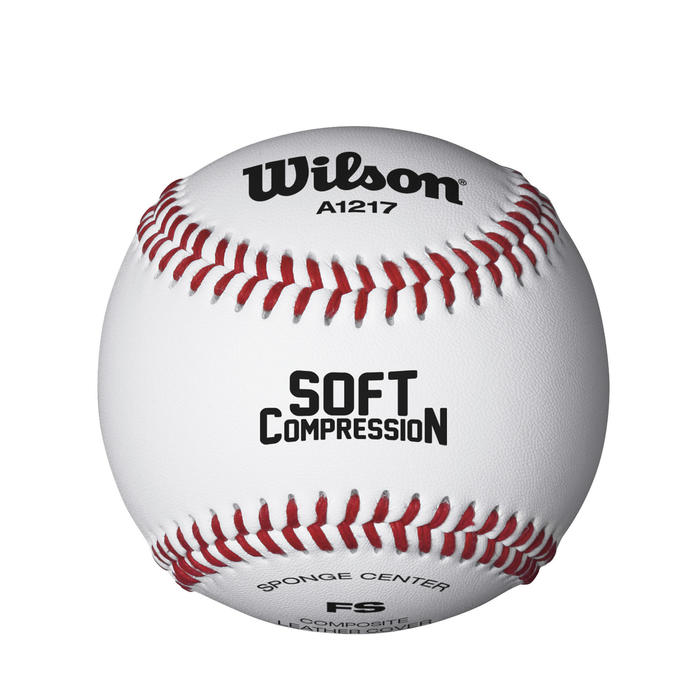 Balle de baseball Soft Compression blanc 9 inches blanche