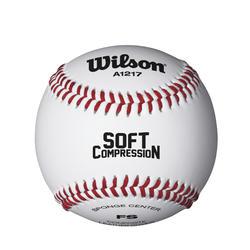 Bola de Basebol Soft Compression 9 Polegadas Branco