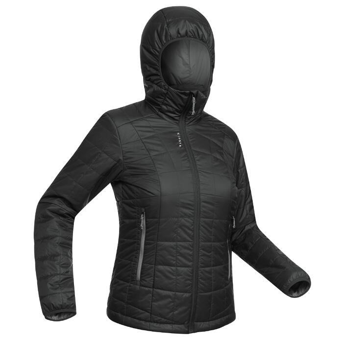 Gewatteerde voetbaljas dames Fcoat 100 zwart