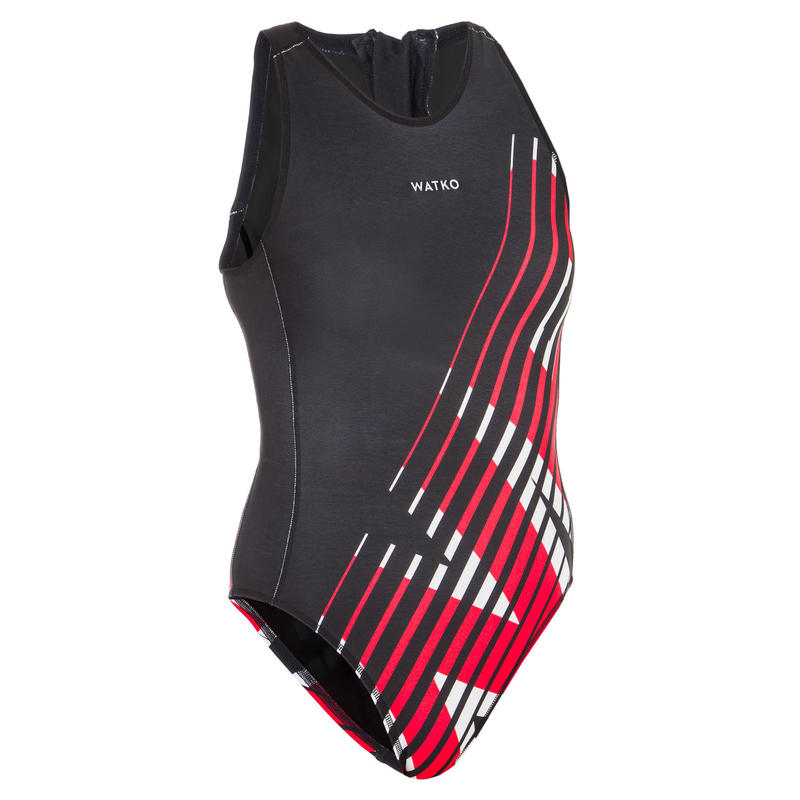 Women's Water Polo One-Piece Swimsuit 500 - Aurora Black