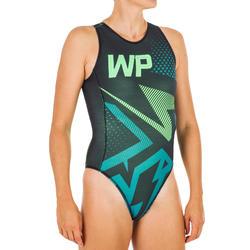 Badeanzug Wasserball 500 Damen Lili grün
