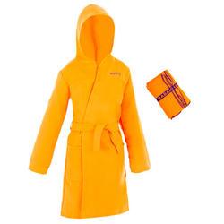 Roupão +Toalha de natação Microfibra Criança Laranja Tam L 80*130 CM (CONJUNTO)