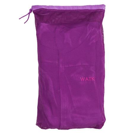 Bademantel 500 Mikrofaser kompakt Kinder violett