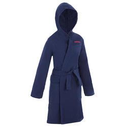 Katoenen badjas voor kinderen marineblauw