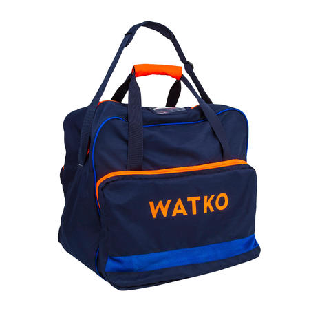 60L WATER POLO BALL BAG - BLUE FLUO ORANGE