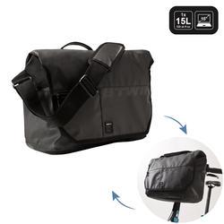 Fahrradtasche Businessbag 500 15 Liter schwarz