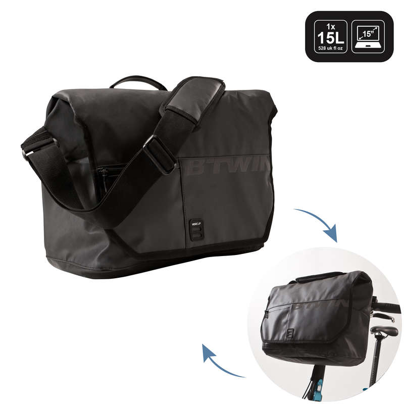 BIKE CARRIER LUGGAGE Cycling - 900 Bike Messenger Bag Front BTWIN - Bike Travel, Storage and Transport