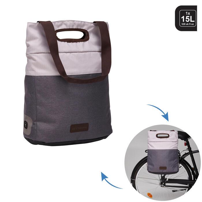 Boodschappentas / fietstas voor bagagedrager 500 1x15 l