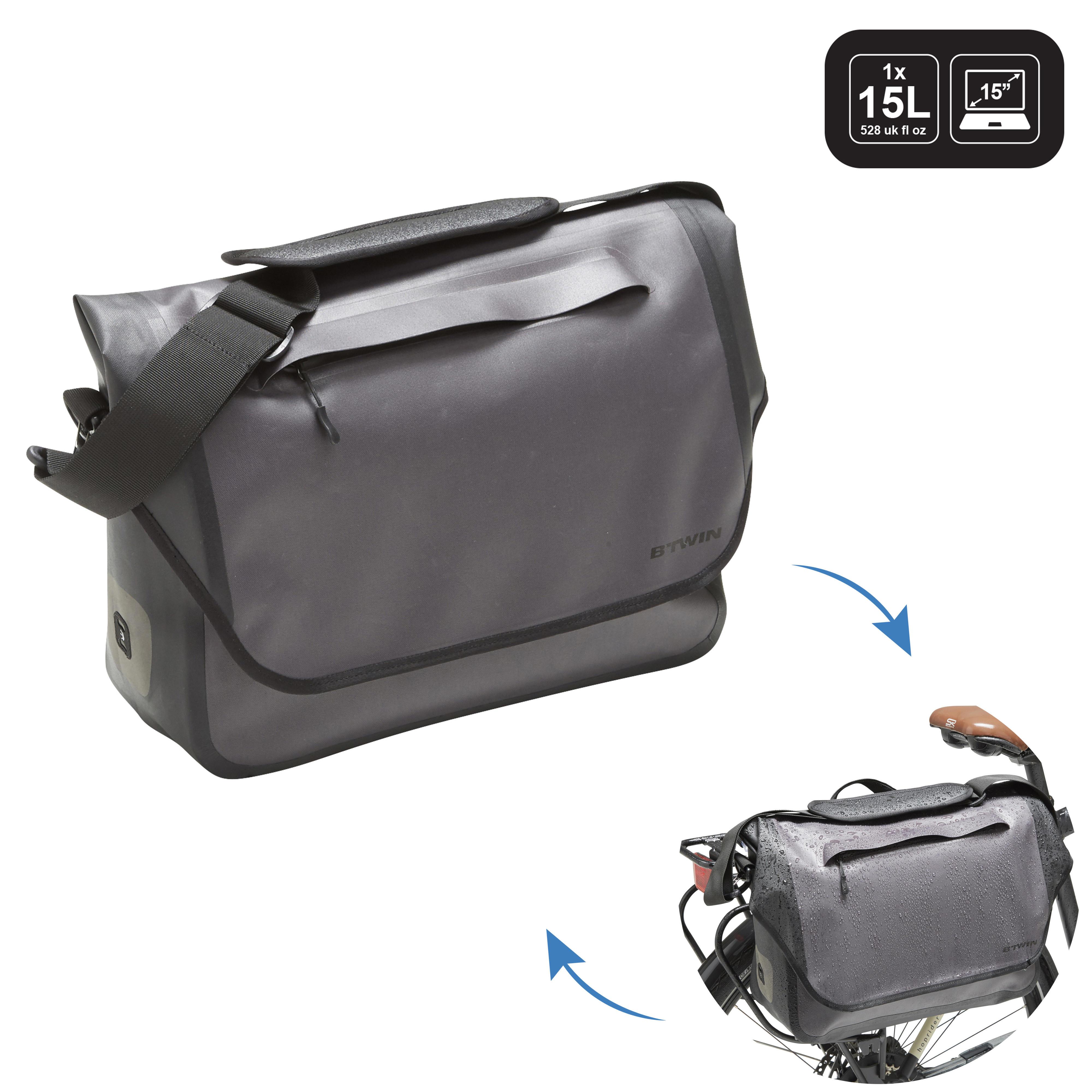 Fahrradtasche Businessbag 900 15Liter wasserdicht grau | Taschen > Businesstaschen > Fahrrad-taschen Büro | Elops