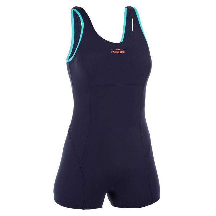 Badeanzug Shorty Aquagym Mika Damen blau