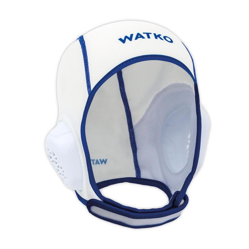 Bonnet water polo junior easyplay à scratch blanc