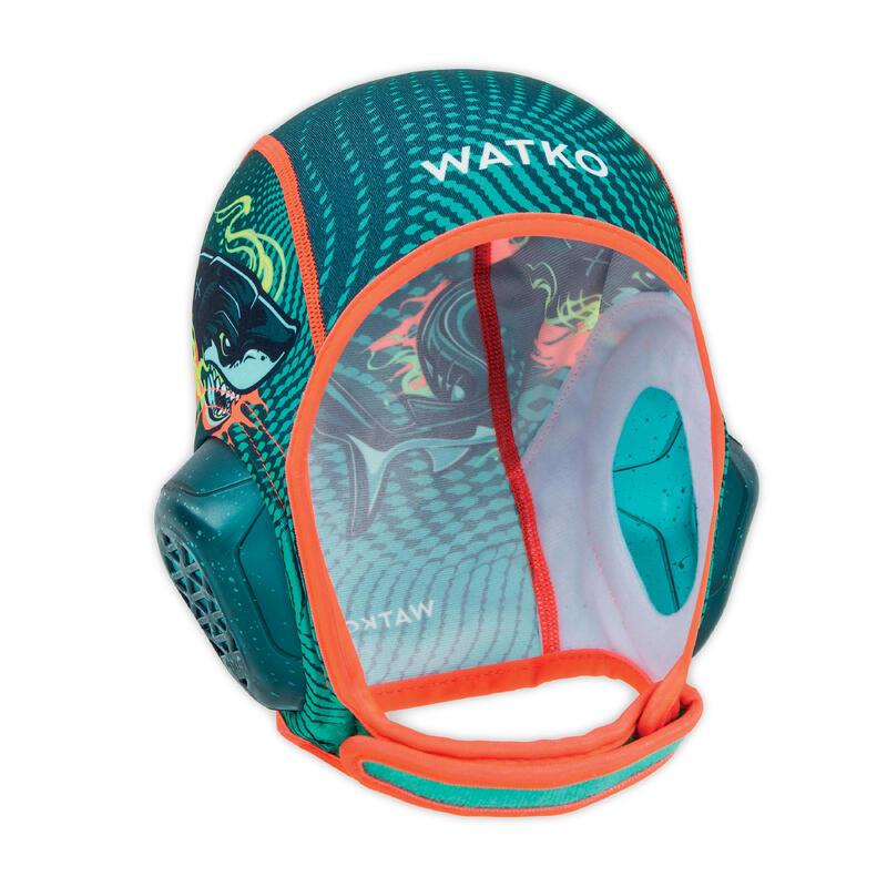 Gorro Waterpolo Easyplay Niños Shark Verde Velcro