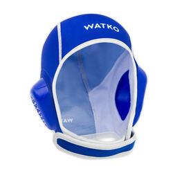 Wasserball-Kappe Kinder Easyplay Klettverschluss blau