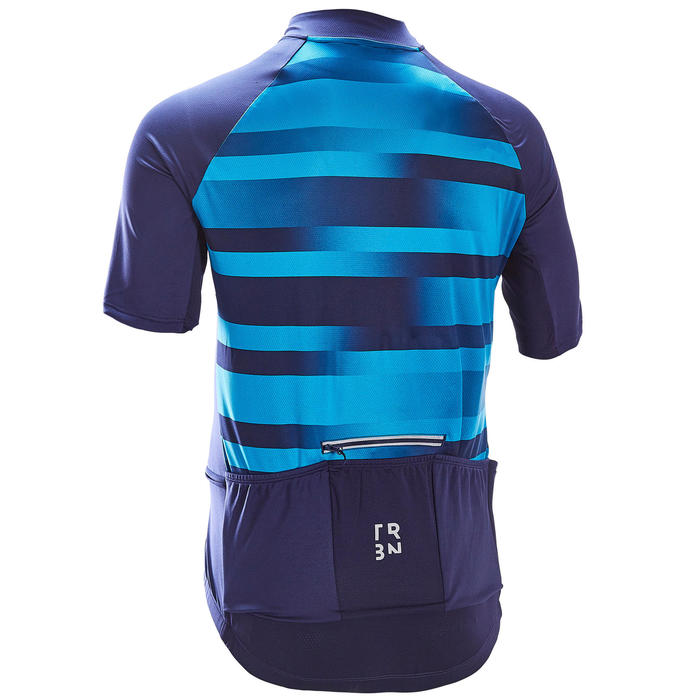 MAILLOT MANCHES COURTES TPS CHAUD VELO ROUTE HOMME RC100 VIB NAVY